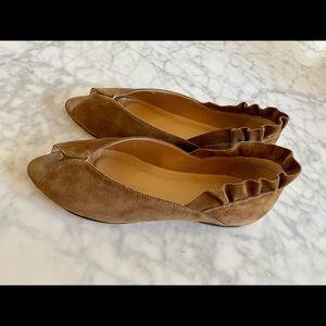 TT Milano suede open toe flats size 38